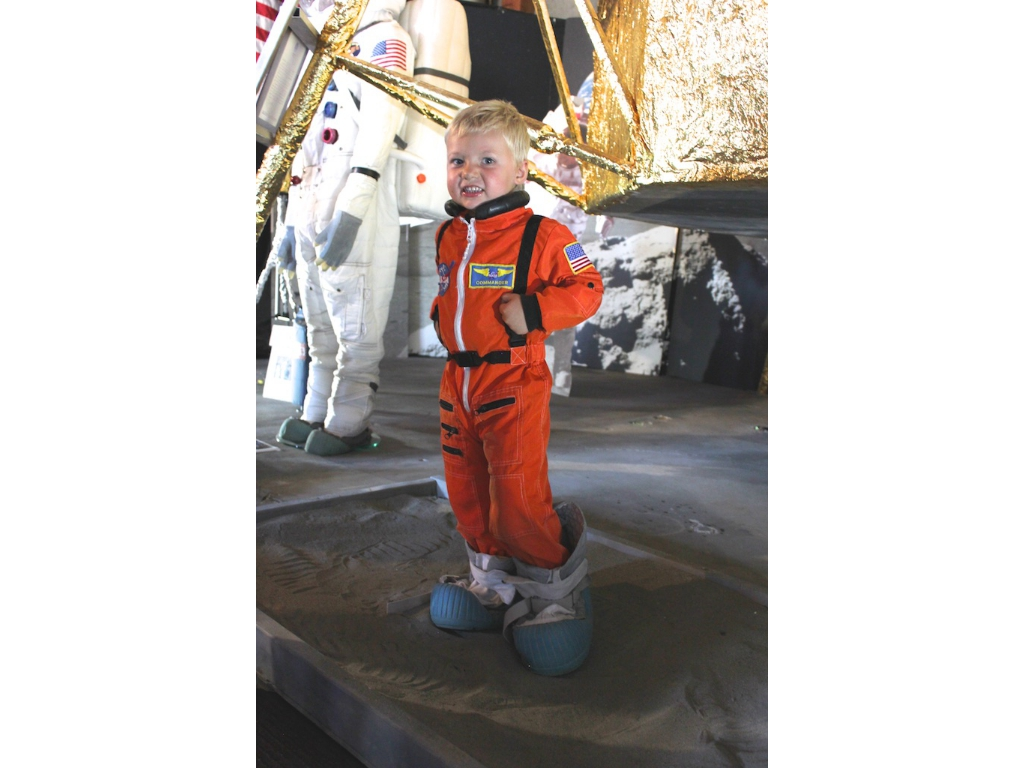 A future astronaut in training